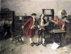 How did Benjamin Franklin become a printer?